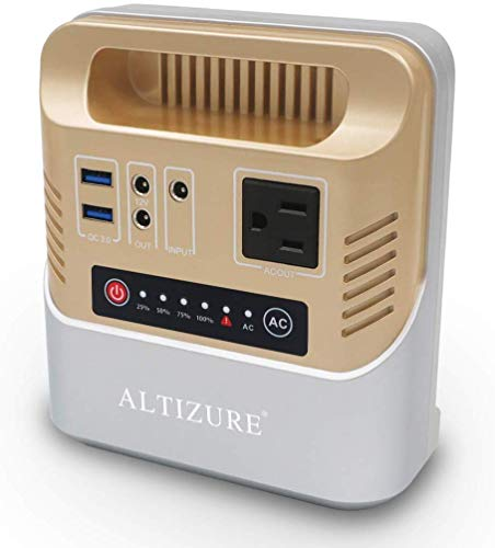 ALTIZURE Portable Power Station Portable Generator Solar Generator 100W/39600mAh/146Wh CPAP/Home/Outdoor Camping/Disaster Prevention Emergency,with AC/DC/USB/QC3.0,LED Light,SOS Flash
