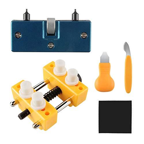 Beanlieve Reparaturwerkzeugsatz Für Uhren - Verstellbarer Gehäuseöffner Rückseitenentferner, Ideal Für Verschiedenen Werkzeugsatz Zum Auswechseln Der Uhrenbatterie