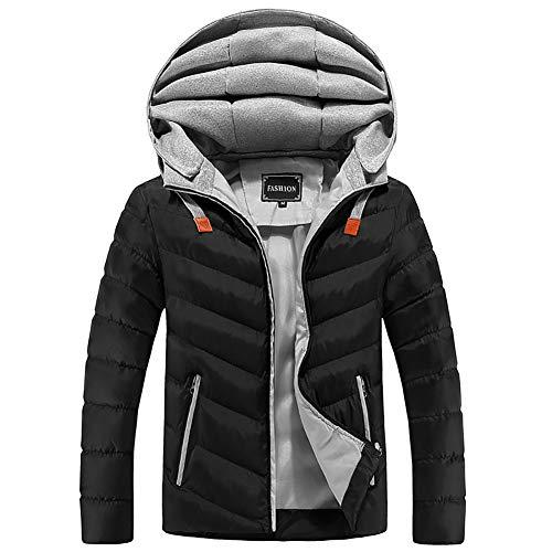 YZY Chaqueta de algodón de plumón para Hombre Tallas Grandes Ropa de Abrigo con Capucha, Abrigo cálido de Invierno para Viajes Senderismo (Color : A, Size : XXXXL)