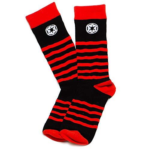 Toy Zany Star Wars Red Striped Imperial Black Socks