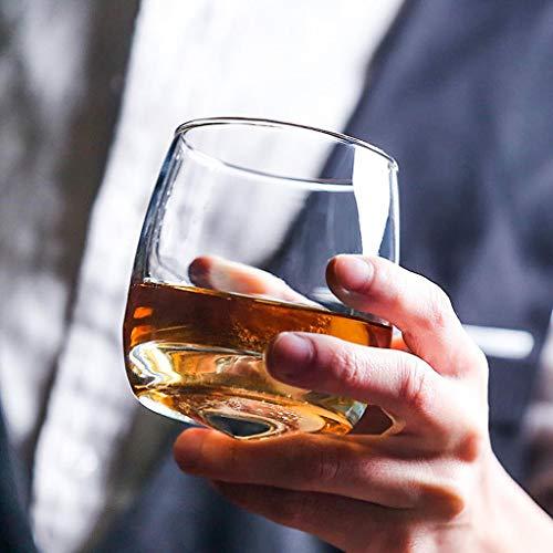 Flow Barware Deluxe Whiskygläser und Whiskysteine, in Geschenkbox aus Holz, italienisches Vintage-Kristallglas für Scotch, Bourbon, Gin & Tonic sowie Cocktails - 2
