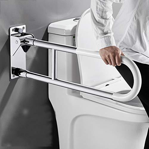 JMUNG Stützklappgriff limonengrün, Toiletten WC-Aufstehhilfe hochklappbar Stahl-Haltegriff Aufstehhilfe seniorengerecht | Wandmontage im Badezimmer,Stainless Steel