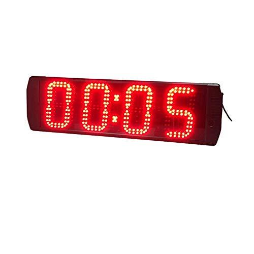 HHZZ毎日の大きいデジタルLEDの壁時計間隔タイマトレーニングタイマージムカウントダウンストップウォッチリモコン