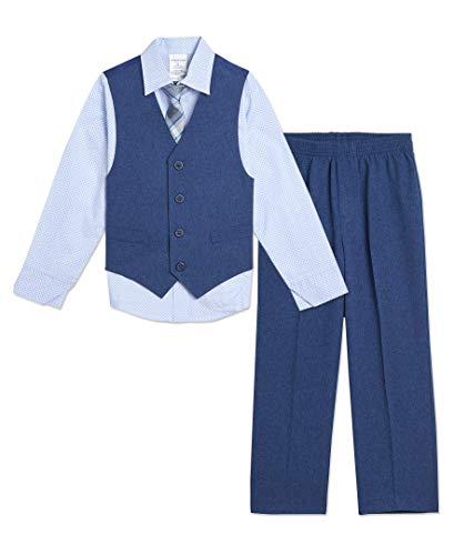 Van Heusen Baby Boys 4-Piece Formal Dress Up Vest Set, Aqua Marina, 18 Months