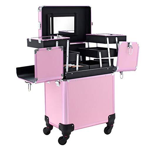 GXJ XHH-Maleta De Maquillaje Profesional Rosa Multiuso Maletin para Maquillaje Y Joyas...