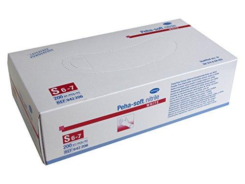 Peha-soft nitrile white 200 Stück Gr. S (6-7) Nitril Handschuhe