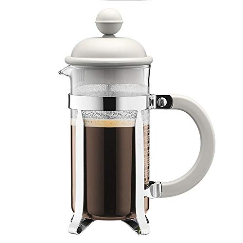 Yamyannie Coffee Press Pot French Press Pot Household Portable Coffee Pot Hand Coffee Pot Filter Cup for Home (Color : White, Size : 1000ml)