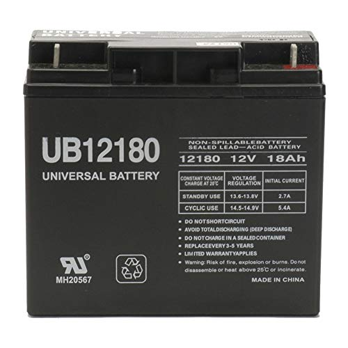 Universal Power Group 12V 18AH SLA Battery for DR Field Tow-Behind and Brush Mower