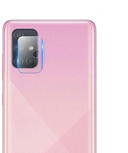Olixar Protector de lente de cámara para Samsung Galaxy A71, transparente, claridad HD, antirreflectante, antiarañazos, antihuellas, resistente a los arañazos, 2 unidades