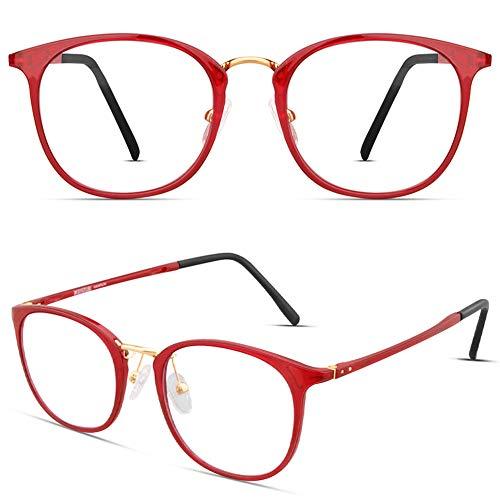 Tamwy Blue Light Blocking Glasses Women Men Computer Game Reading Eyeglasses, Lightweight Thin Frame Anti Eyestrain Headache UV400