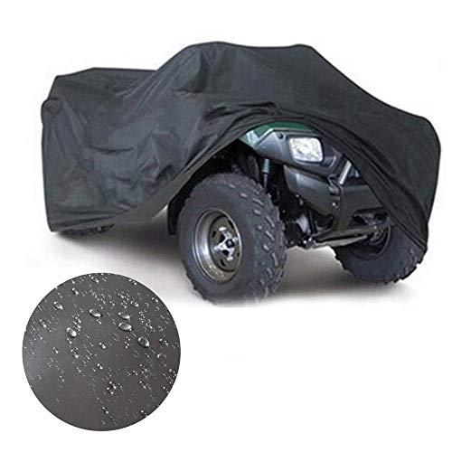 Telo Copriauto Impermeabile ATV Car Cover Heavy Duty UV-Protection copertura dell automobile copertura copertura totale for ATV Quad UTVs Impermeabile (Color : Black and silver)