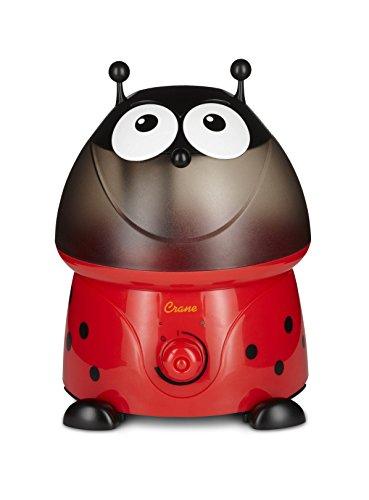 Crane EE-8247 Ultraschall Luftbefeuchter für das Kinderzimmer | Lilly der Marienkäfer, 45 W, 230 V, rot, 25 x 23,5 x 31,5 cm