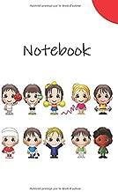 Notebook: Carnet de Notes | 5,5 x 8,5 pouces | 80 pages lignées | Rouge | Enfants | Cadeaux