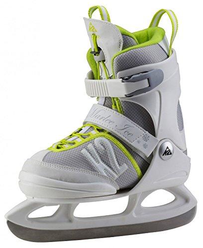 K2 Kinder Schlittschuhe MARLEE ICE - Weiß-Grau-Gelb - S (29-34 EU; 10-1 UK; 11-2 US) - 25A0200.1.1.S