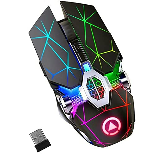 BJYX Gaming Mouse USB Wireless Mouse LED Backlit Rechargeable