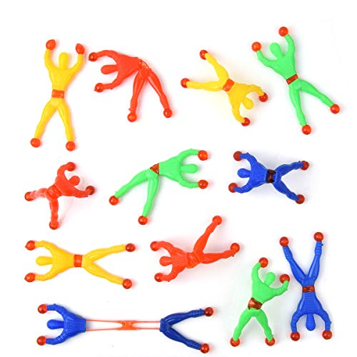 Hotusi 40 Pcs Window Crawler Men, Multicolored Sticky Action Figure Rolling Men Wall Climbers Toys for Party Favor (Random Color)