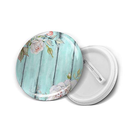 Insignia redonda DIY Botones Shabby Country Chic Moda Titular Mini Broches Pin Insignias Botones Ropa Pines 4,5 cm