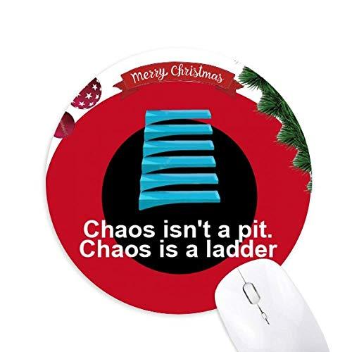 Chaos Pit Leiter Rund Gummi Maus Pad Weihnachtsbaum Mat