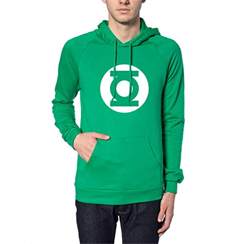Green Color for The Light - Sudadera con Capucha y Bolsillo (XXL)