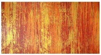 Wachsplatte orange,rot-gold marmoriert 20x10 cm - 9719 - Verzierwachsplatte 200x100 mm für Kerzen