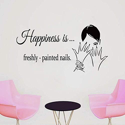 Nail Salon Wall Sticker Maquillage Nail Wall Decal Art Peint Nail Wall Art Affiche Fenêtre 57 * 30Cm