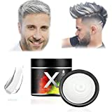 Hair Color Wax, Temporal Hairstyle Cream, fiesta, Masquerade (Blanco)