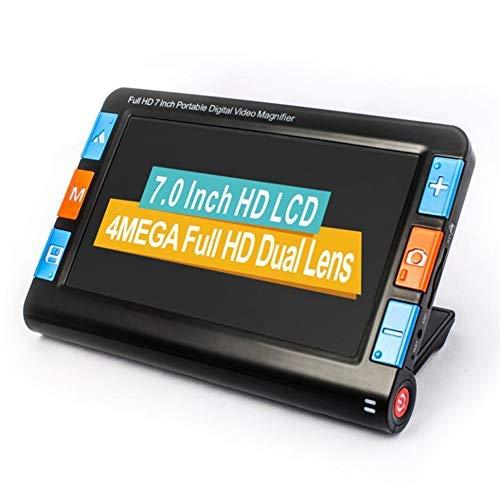 Fambasis 7 Pulgadas Lupa Digital, Lupa de Lectura Electrónica Portátil Handheld LCD Pantalla bajo Vision Lectura Ayuda con 26 Modos de Color Diferentes Aumento de 4-24X