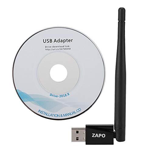 Mini USB WiFi-adapter 3.5dBi-antenne, 150Mbps draadloze USB-netwerkkaartadapter met sterke beveiliging