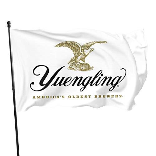 asdew987 Yuengling Bier-Logo, Gartenflagge, Bauernhaus-Dekoration, Innenhofdekoration, Außendekoration, 90 x 150 cm