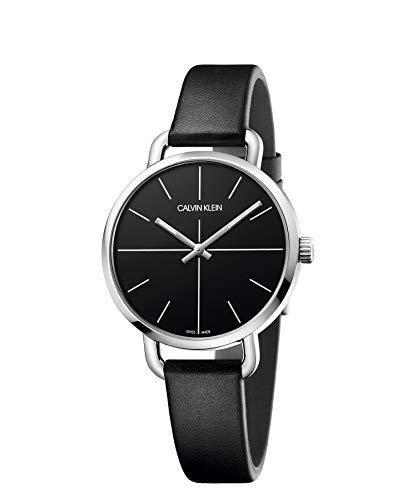 Calvin Klein Reloj Analógico-Digital para Unisex Adultos de Cuarzo con Correa en Cuero K7B231CZ