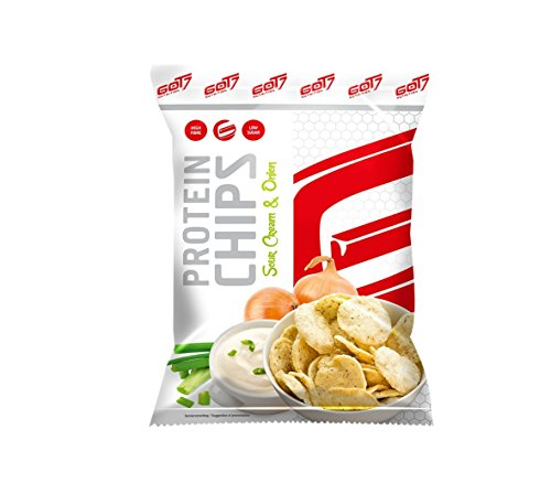 GOT7 High Protein Chips Snack 40{9ce49f32fb0a4ee3c2a187f77c46c559b81aa5892e2dbef6e08ee74cd0f8fc33} Protein Fitnesssnack – Ideal Zur Diät Fitness Bodybuilding 6x 50g (Sour Cream & Onion)