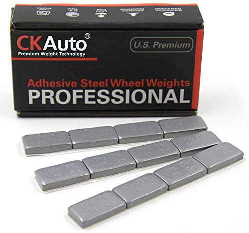 1oz, Grey Adhesive Stick on Wheel Weights, Easy Peel, US OEM Quality, 72 oz/Box (72pcs)