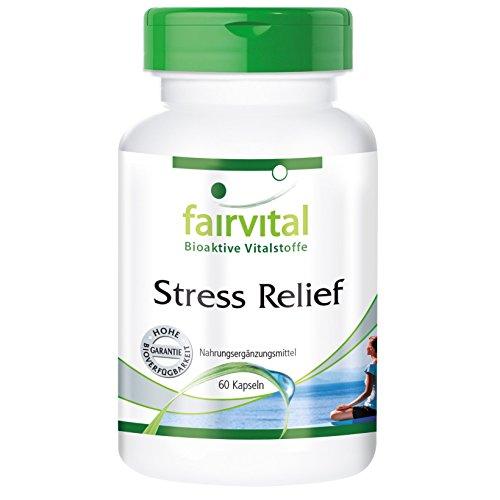 Stress Relief - Hautement dosé - Complexe de Vitamines B avec des oligo-éléments, acides aminés et des extraits de plantes - 60 gélules