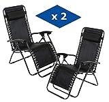 VIP HOGAR Pack 2 Tumbonas Plegables Multiposiciones,...