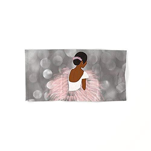 Toalla de baño de microfibra suave y absorbente para bailarina africana americana, para baño, toallas de baño, toallas de baño, toallas de hotel y toallas de gimnasio de 30,5 x 69,8 cm