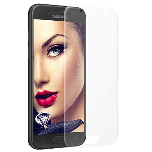 mtb more energy Gewölbtes 3D Schutzglas für Samsung Galaxy A3 2017 (SM-A320, 4.7'') - Rahmenlos - Curved Full Display Glasfolie