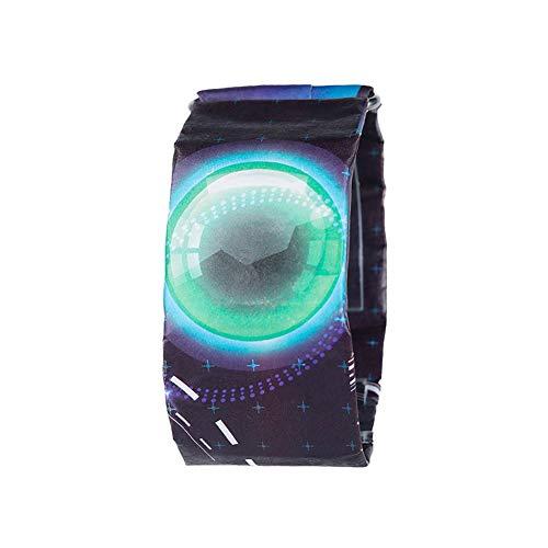 Unisex modische einfache wasserdichte intelligente Digital-Armbanduhr Quality Paper-Uhr mit Bügel Creative Paper-Uhr-Blase Art 1pc