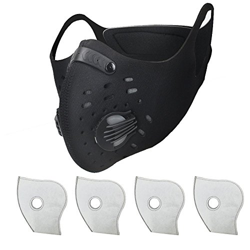 Simwell Dust Masks, Activated Carbon Dustproof Masks with Filter Allergy Mask for Running Woodworking House Cleaning and Gardening, Against Asthma, Pollen Allergies, PM2.5