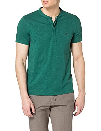 Tommy Hilfiger Herren SLUB SS Henley T-Shirt, Ländliches Grün, M