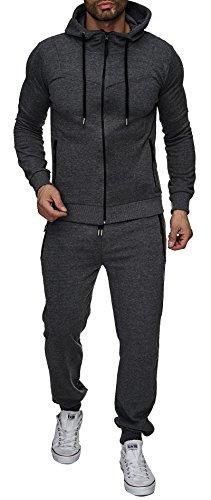 Reslad trainingspak heren joggingpak voor mannen sportpak vrijetijdspak joggingbroek + ritssluiting sweatshirt bovendeel RS-5063