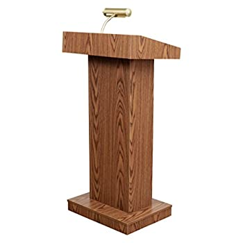Oklahoma Sound 810-MO The Orator Adjustable Height Lectern Medium Oak