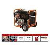 Generac Portable Generator, 6500W