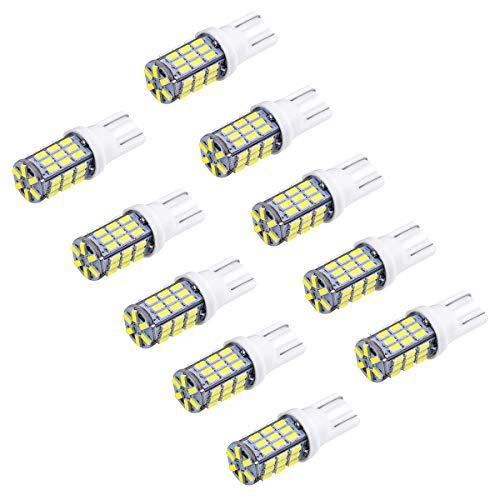 LegendTech 10PCS T10 LED Ampoules de voiture lampe 5W 3014SMD Voiture Plaque D'immatriculation Dôme Ampoule Intérieure Liseuses Cargo - Voiture White LONGUE VIE Bulbe DC12V