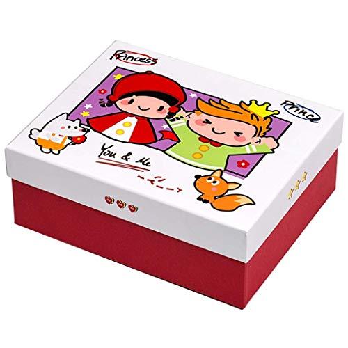 Lsmaa Caja de Regalo de la Historieta con la Tapa, Caperucita Roja y el Principito la Caja del Caramelo, respetuosa del Medio Ambiente de cartón, Apropiado for Alquiler de Fiesta de cumpleaños