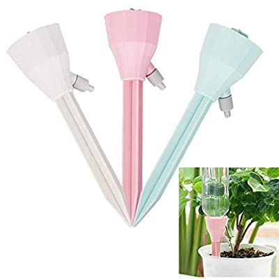 ARTEM Self Plant Watering Spikes Auto Drippers Irrigation Devices Vacation Automatic Plants Water System with Adjustable Control Valve Switch Design for Houseplant, Gardenplant, Officeplant 3 Pack