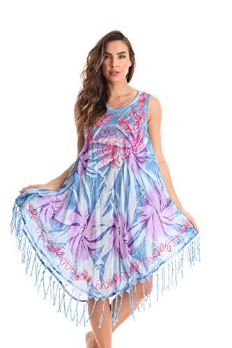 Riviera Sun Sleeveless Umbrella Dresses for Women 21968-NVY-3X Navy