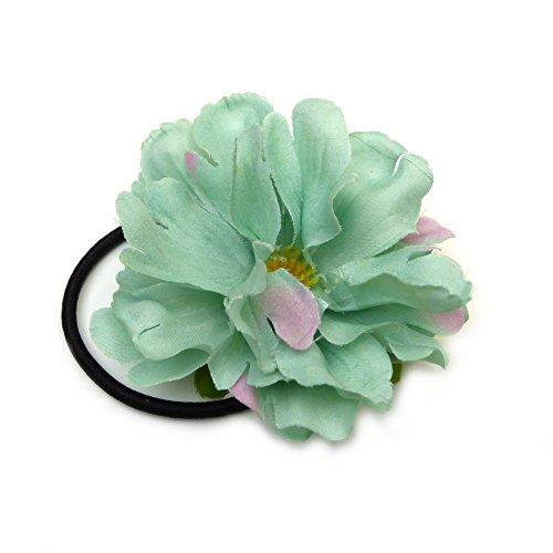 Rougecaramel Haargummi mit Blume, Durchmesser 8 cm