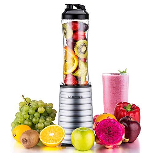 La Reveuse Smoothies Blender 300 Watt with 18 oz BPA Free Portable Travel Sports Bottle -Dishwasher Safe (1801 (300W))