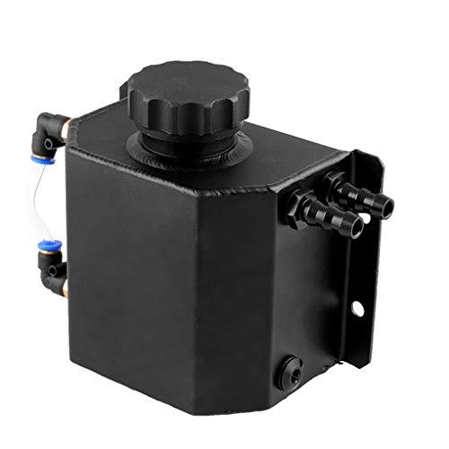 Qimao Botella radiador del Coche de líquido refrigerante de derrame de Aluminio depósito de Agua de Accesorios del automóvil 1 Litro