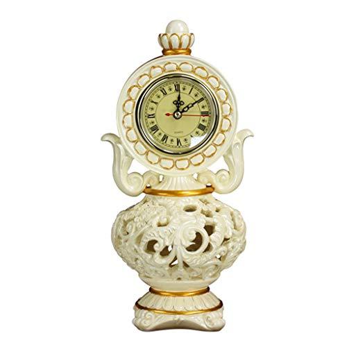 O&YQ Horloge de Table de Comptoir Style Européen Horloge en Résine Bureau en Résine Salon Horloge de Décoration Il S'Applique Aux Familles Aux Bureaux Etc.Couleur de l'image